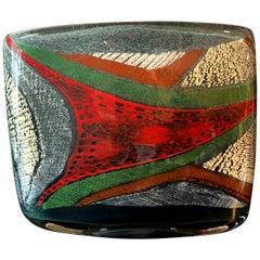 French Art Glass Vase by Marisa et Alain Bégou