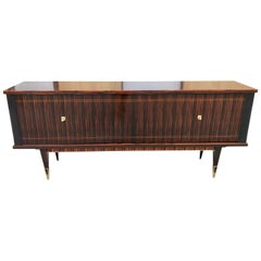 French Art Modern Exotic Macassar Ebony Sideboard / Credenzas