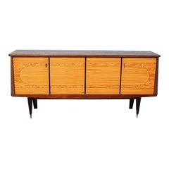 French Art Modern Exotic Mahogany Sideboard/Buffet/Bar