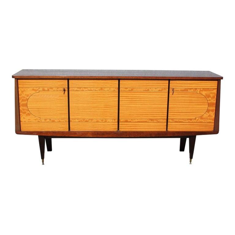 French Modern Mahogany Sideboard / Buffet / Credenzas