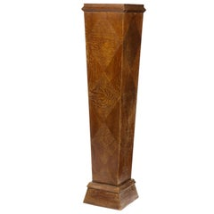 French Art Moderne Cerise Oak Pedestal, Modern