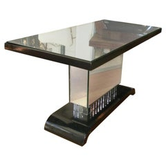 French Art Moderne Mirrored Cocktail Table