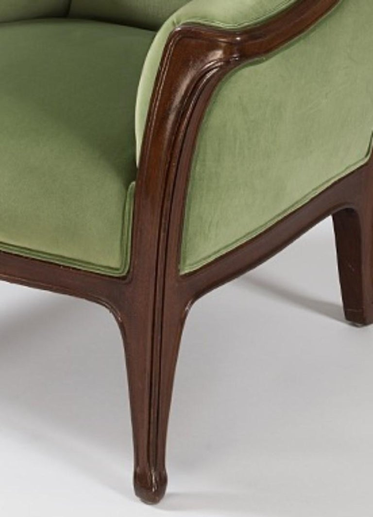 Hand-Carved French Art Nouveau Armchair by Louis Majorelle For Sale