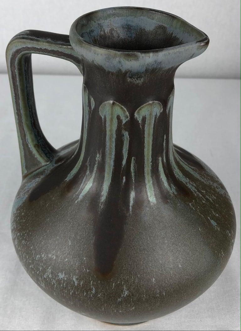 French Art Nouveau Art Deco Ceramic Vase, Signed For Sale 1