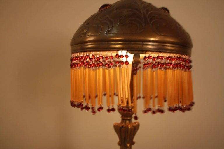 French Art Nouveau Bronze Table Lamp 1