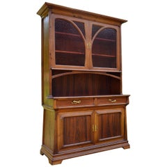 French Art Nouveau Buffet in Chestnut and Exotic Wood, circa 1900