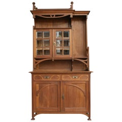 French Art Nouveau Buffet Made of Oak, circa 1910
