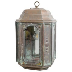 French Art Nouveau Copper Lantern, circa 1900