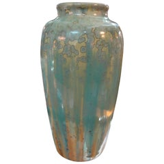 French Art Nouveau Crystalline Glazed Pottery Vase by Pierrefonds