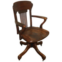 French Art Nouveau Desk Chair