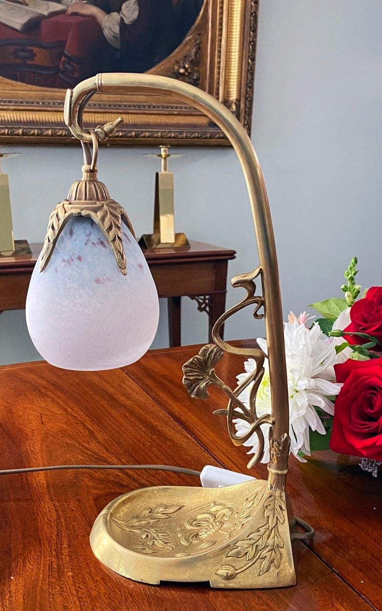 Early 20th Century French Art Nouveau Desk Table Lamp Charles Schneider, France, C.1920 For Sale
