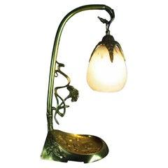 French Art Nouveau Desk Table Lamp Charles Schneider, France, C.1920