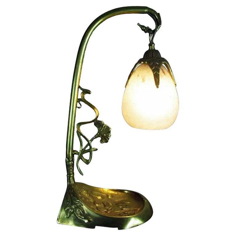 French Art Nouveau Desk Table Lamp Charles Schneider, France, C.1920 For Sale