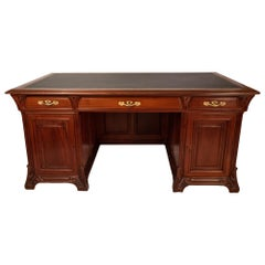 French Art Nouveau Feather Top Desk