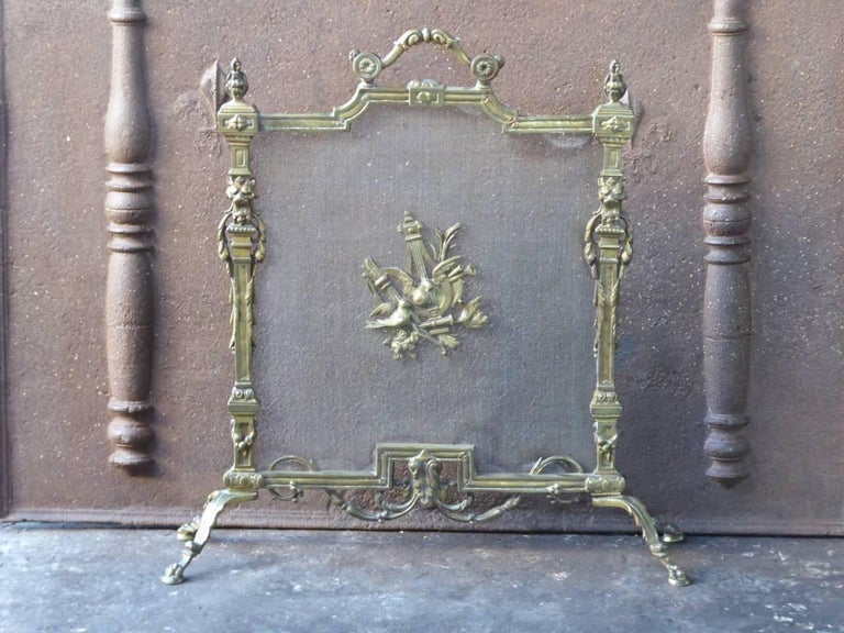 French Art Nouveau Fireplace Screen Made Of Br And Iron Mesh We Have A Unique