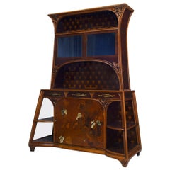 French Art Nouveau Inlaid Cabinet Signed by Louis Majorelle