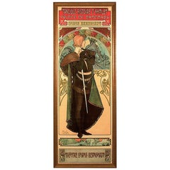 "French Art Nouveau Lithograph Titled ""Hamlet,"" by Alphonse Mucha"