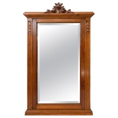 French Art Nouveau Louis XVI Style Beveled Mirror, Early 20th C.