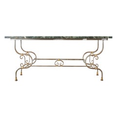 French Art Nouveau Marble Pastry Table Console