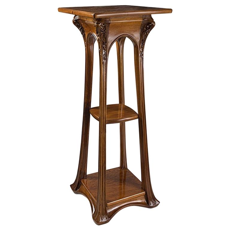 French Art Nouveau Pedestal by Louis Majorelle For Sale