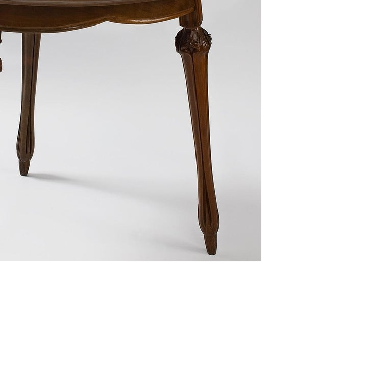 Marquetry French Art Nouveau Table by Louis Majorelle For Sale