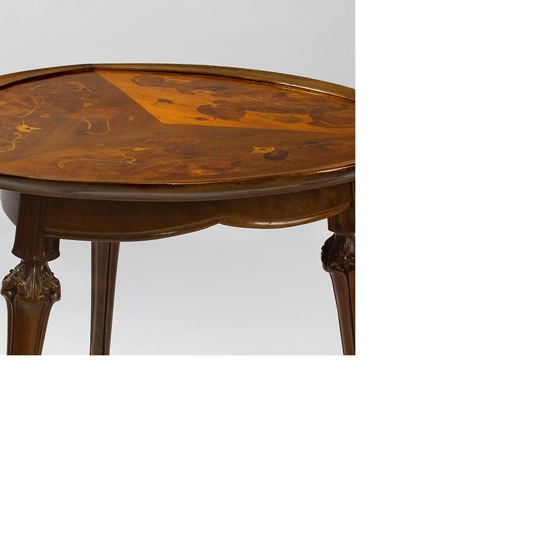 French Art Nouveau Table by Louis Majorelle In Excellent Condition For Sale In New York, NY