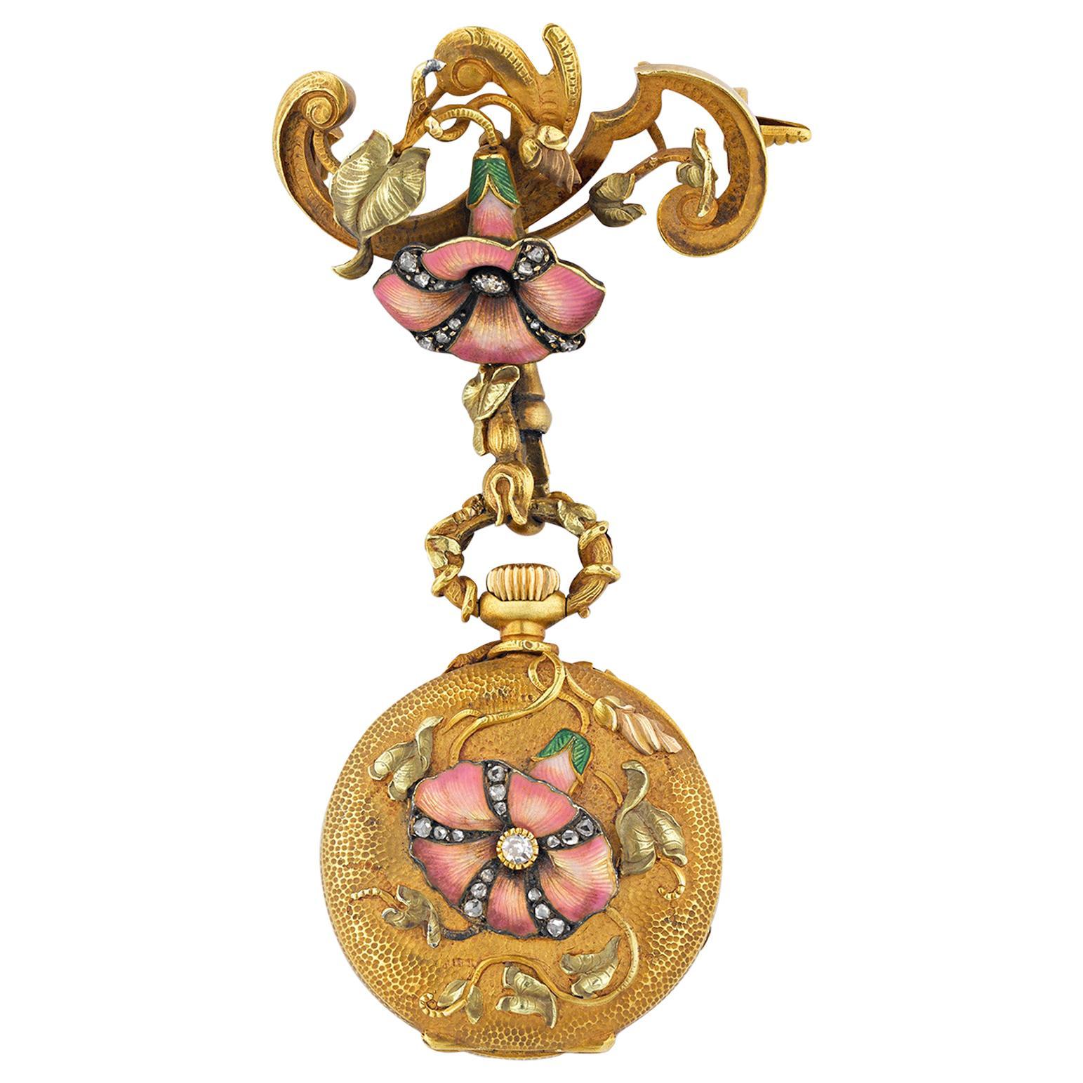 French Art Nouveau Watch Pendant