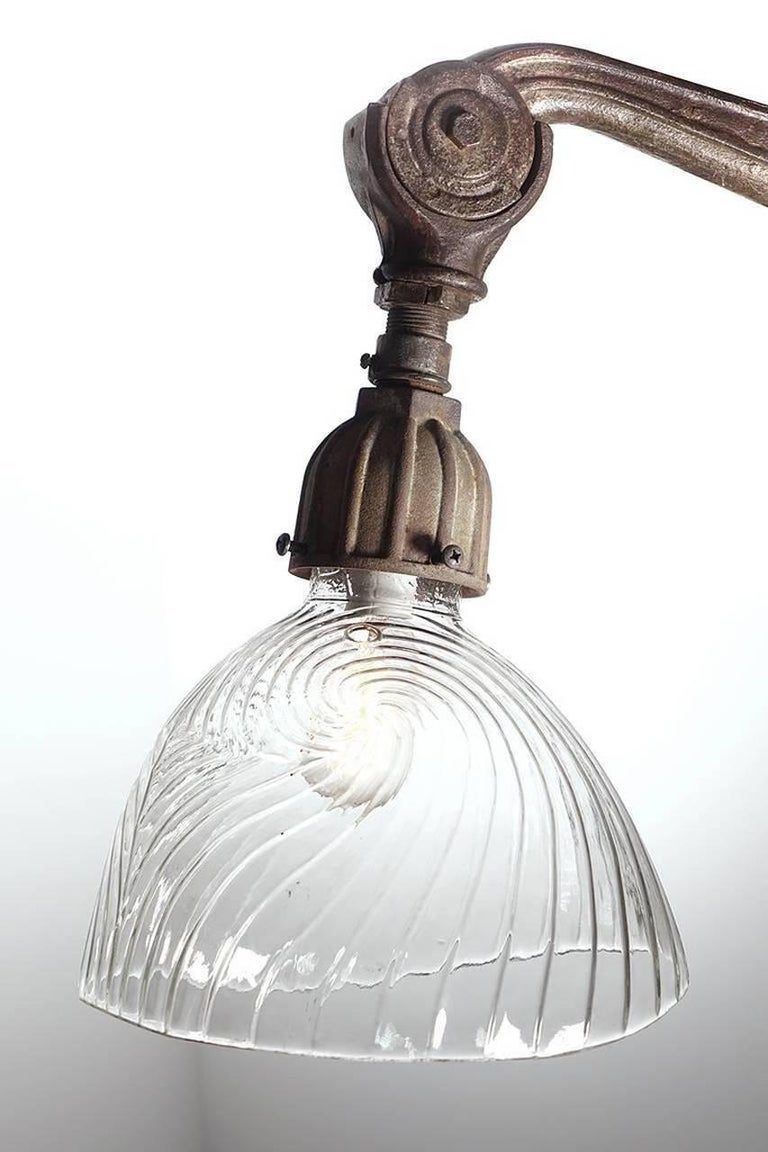 Art Deco French Articulated Street Lamp For Sale