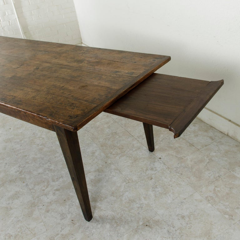 French Artisan Made Oak Farm Table or Dining Table with Cutting Board 6