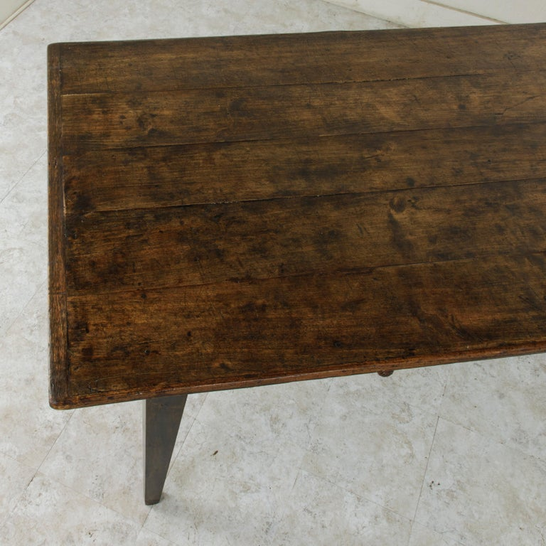 French Artisan Made Oak Farm Table or Dining Table with Cutting Board 7
