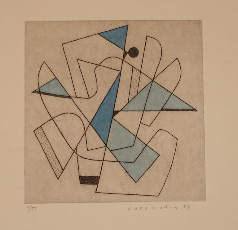 Contemporary French artist Jorj Morin (1909 -1995) was an