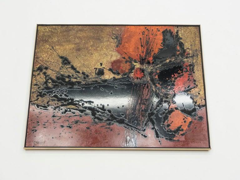 Late 20th Century French Artist Philippe Cheverny Lacquer Panel, circa 1970