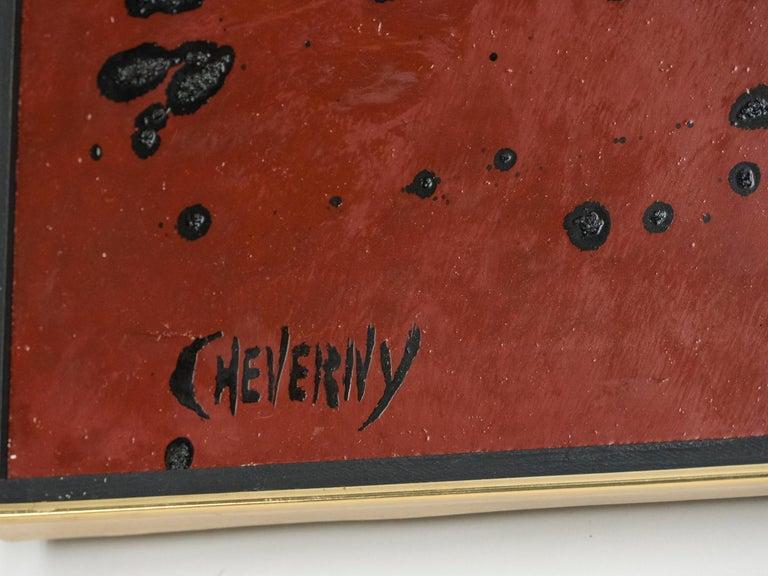 French Artist Philippe Cheverny Lacquer Panel, circa 1970 3