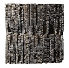 French Artist Thierry Martenon Carved Wood Wall Sculpture, France, Contemporary