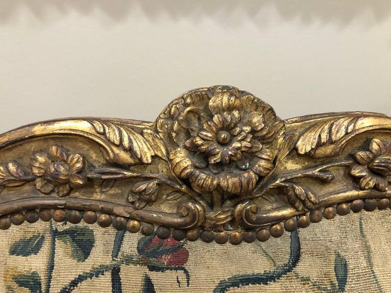 Louis XV French Aubusson Canape, 18th Century For Sale