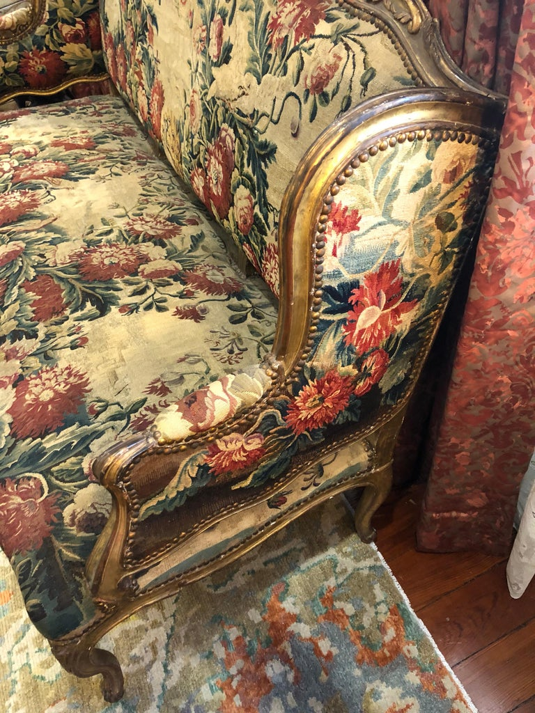 French Aubusson Canape, 18th Century For Sale 4