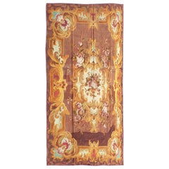 908 - French Aubusson Rug, Napoléon III, 19th Century