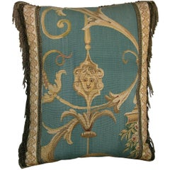 French Aubusson Tapestry Pillow, circa 19th Century 430p
