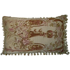 French Aubusson Tapestry Pillow, circa 1870 1288p