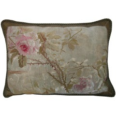 French Aubusson Tapestry Pillow, circa 18th Century 1156p