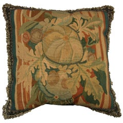 French Aubusson Tapestry Pillow, circa 1880 170p