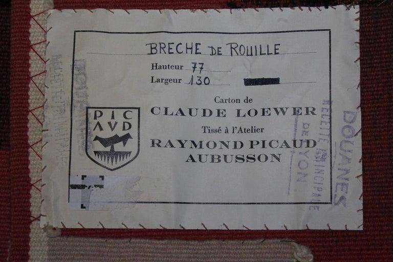 French Aubusson Wool Tapestrie