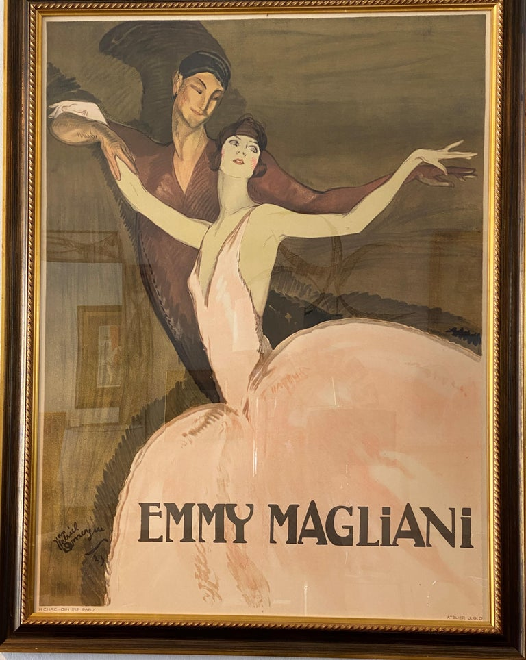 French Ballet Poster of Emmy Magliani after Jean Gabriel-Domergue For Sale 3