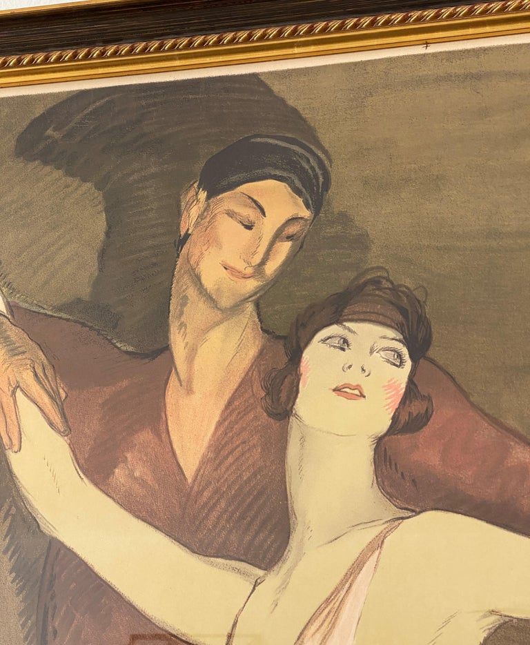 Polished French Ballet Poster of Emmy Magliani after Jean Gabriel-Domergue For Sale