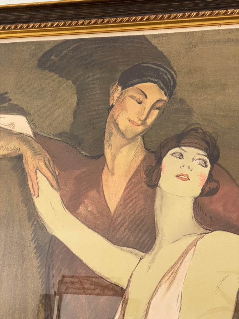 French Ballet Poster of Emmy Magliani after Jean Gabriel-Domergue In Good Condition For Sale In West Palm Beach, FL
