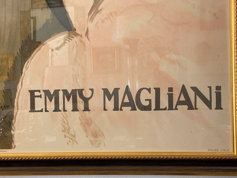 Wood French Ballet Poster of Emmy Magliani after Jean Gabriel-Domergue For Sale