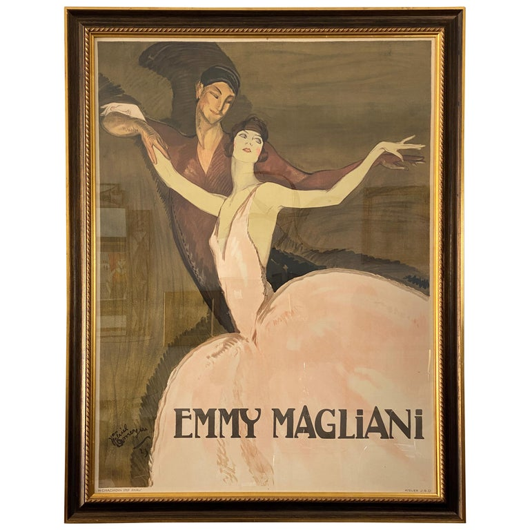 French Ballet Poster of Emmy Magliani after Jean Gabriel-Domergue For Sale
