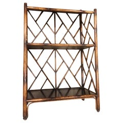 French Bamboo Bookcase
