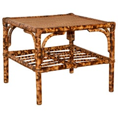 French Bamboo Coffee Table, circa 1950