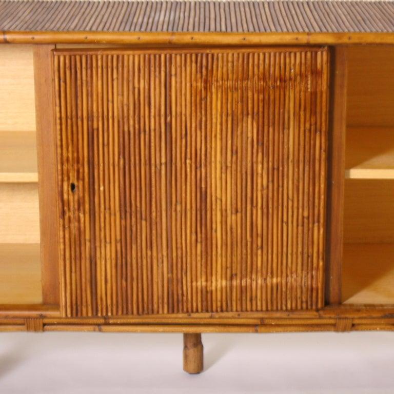 French Bamboo Credenza, circa 1950 In Good Condition For Sale In Dallas, TX